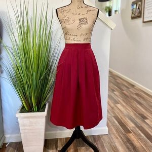 nwt zeagoo a line skirt in cranberry